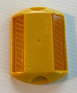 Yellow Stimsonite Pavement Marker Reflective